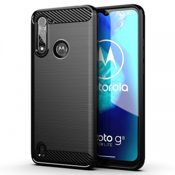 CARBON & STEEL STYLE COVER MOTOROLA G8 POWER LITE