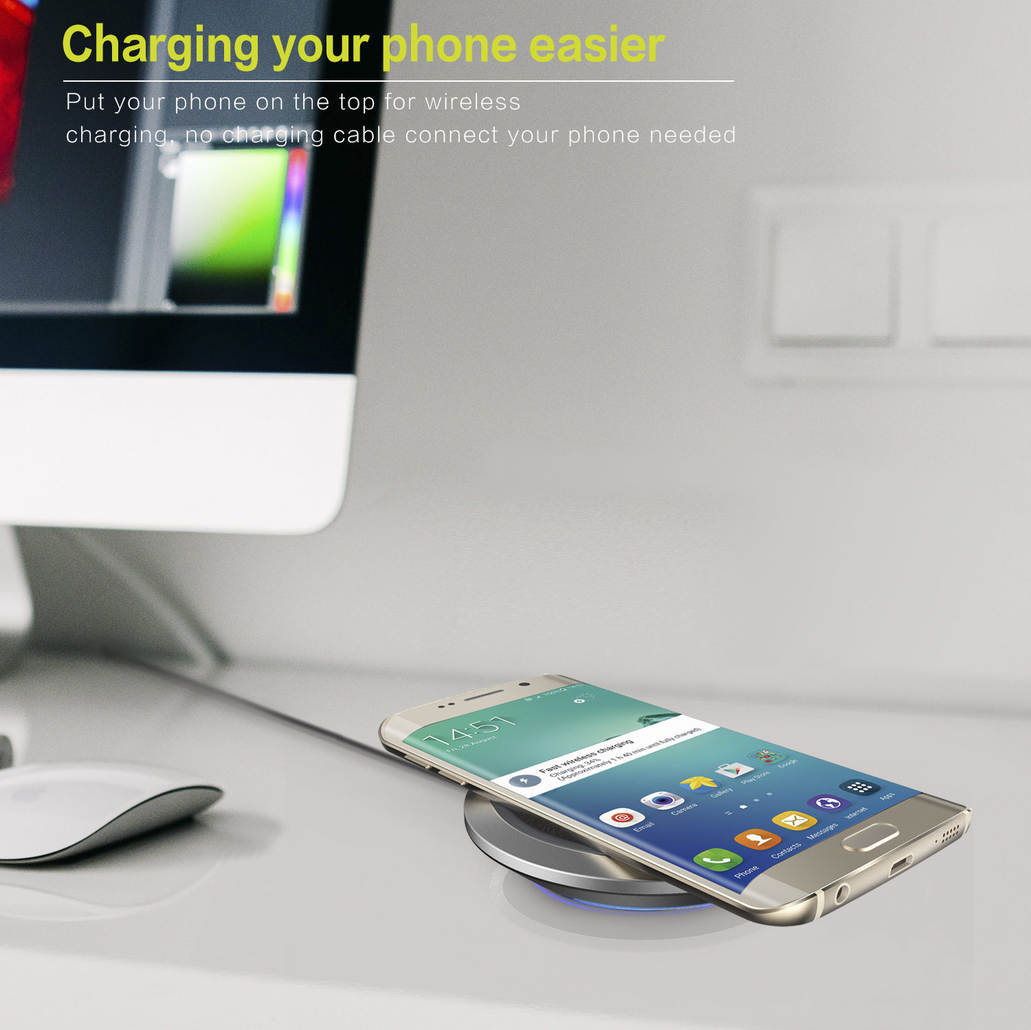 official photos e27e9 0ab21 INSMAT 10W FAST WIRELESS CHARGER QI - Wireless Charging Qi - Mobile ...